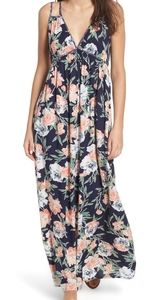 Band of Gypsies Halter Floral Maxi Dress Size S